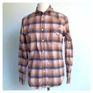 Lucky Brand Men Size S Plaid Long Sleeve Shirt